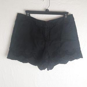 LOFT linen lacey shorts